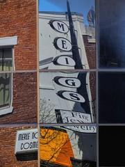 Nine Panes (clarkcg photography) Tags: windowwednesday window glass panes 9 nine jewelry meigs tahlequah brick
