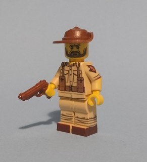 WW2 Desert rat courtesy of a United Bricks mystery pack.
