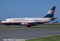 Canadian Pacific Air Lines B737-2T5/Advanced C-FHCP (planepixbyrob) Tags: canadian canadianpacific cpal empress boeing 737 737200 cfhcp yvr vancouver vancity kodachrome retro