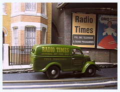 Radio Times (kingsway john) Tags: london transport tram model layout 176 scale oo gauge ford thames van e83w radio times poster bridge kingsway models card building kits