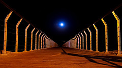A long way to the moon (Fnikos) Tags: sky skyline bridge night nightview nightshot moon moonlight outdoor