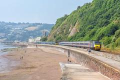Get out of the way. (Teignstu) Tags: teignmouth devon railway sand beach hst crosscountry class43 class57 57605