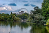 Walk Around the Pond (Shawn Blanchard) Tags: london united kingdom uk britian england ferris wheel sky blue white clouds green trees water reflection building park ha