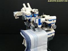 LEGO Transformer Sewing Machine Stitchmaster (alanyuppie) Tags: lego transformers transformer sew appliance apparel fabric decepticon needle stitch