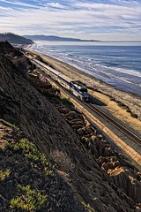 The Pacific Surfliner (Fletch in HI) Tags: canon 40d 28135mm train ocean amtrak