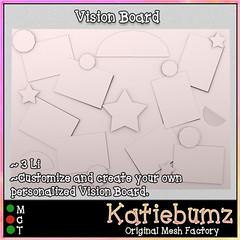 Vision Board (~Katiebumz~) Tags: mesh template vision board books summer reading beach bbq barbecue katiebumz full perm sl secondlife
