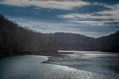Loch Raven Reservoir (Ian David Blüm) Tags: winter lochraven baltimore maryland reservoir lake landscape clouds sky trees bare branches hdr