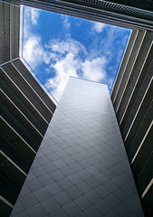 Skylight (markgreensabroad) Tags: norway oslo urban minimal minimalistic simple pattern minimalist shapes form geometry lines sky building light