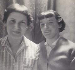 Sisters 1950's (Bury Gardener) Tags: bw blackandwhite oldies old snaps scans people folks 1950s england uk britain