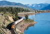 Departing Plains (PNW Rails Photography) Tags: plains montana unitedstates bnsf mrl rail link fourth subdivision 4th sub ge es44c4 tier 4 clark fork river mountains train railroad grain loaded locomotive railfanning