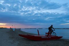 Viserba (chiaras.bi22) Tags: viserba riviera romagna nuvole canon1300d bici luce reflex canon spiaggia tramonto mare rimini