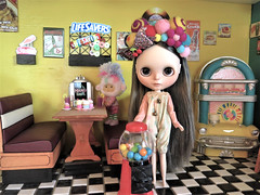 """Blythe a Day,  June 16, 2018 - Candy Carnival • <a style=""""font-size:0.8em;"""" href=""""http://www.flickr.com/photos/103999507@N08/42889548731/"""" target=""""_blank"""">View on Flickr</a>"""
