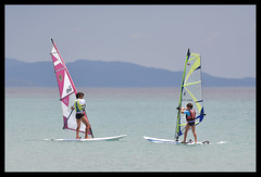 the lesson (ukke2011) Tags: nikond850 nikkor7020028 windsurf lesson sea mare summer