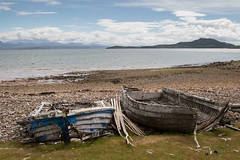 Boat Graveyard (StickyToffeeQueen) Tags: boats wrecks polbain beach sutherland