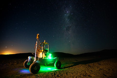 Rover Under the Milky Way - Atacama Rover Astrobiology Drilling Studies (NASA's Marshall Space Flight Center) Tags: nasa marshall space flight center msfc goddard gsfc ames research arc jet propulsion laboratory jpl atacama rover astrobiology drilling studies arads mars solar system desert chile