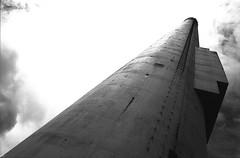 (von8itchfisk) Tags: washi film 35mm ishootfilm filmisnotdead highcontrast analog olympus om10 selfdeveloped architecture industrial derelict factory chimney vonbitchfisk