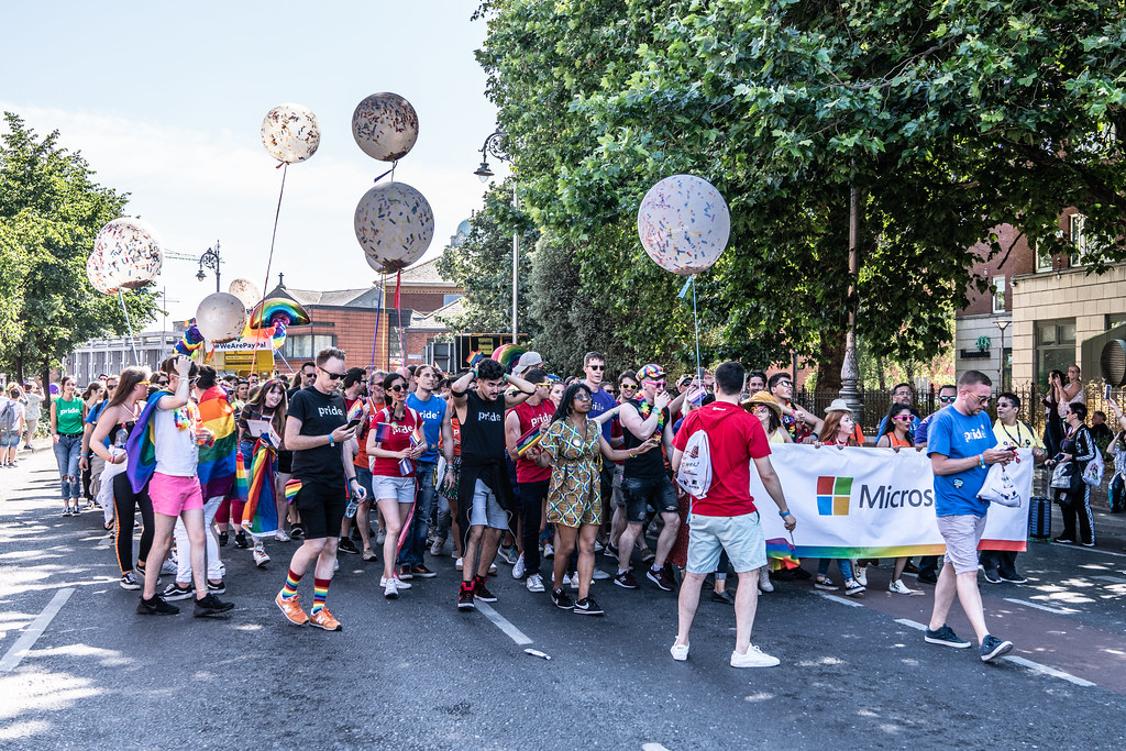 ABOUT SIXTY THOUSAND TOOK PART IN THE DUBLIN LGBTI+ PARADE TODAY[ SATURDAY 30 JUNE 2018] X-100124