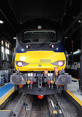 68008 (R~P~M) Tags: train railway england uk unitedkingdom greatbritain locomotive diesel drs directrailservices chilternrailways arriva depot shed 68 wembley london