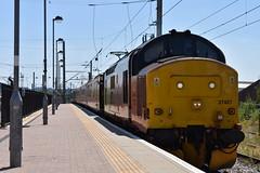 Colas 37421 @ Warrington Bank Quay (Liam Blundell Photography) Tags: colas rail freight warrington bank quay wbq class 37 37421 37116 1q18 carlisle high sidings derby rtc network test train sunny nikon d3400