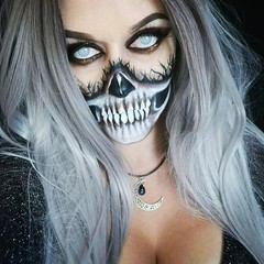 Love it! By @toxictinacreations (ineedhalloweenideas) Tags: halloween makeup make up ideas for 2017 happy night before christmas october 31 autumn fall spooky body paint art creepy scary horror pumpkin boo artist goth gothic amazing awesome