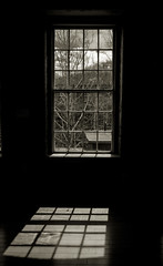 Through the window / Par la fenetre (CTfoto2013) Tags: fenetre ombre lumiere shadow light window arbre tree toit roof nuages clouds ciel sky massmoca atmosphere mood ambiance northadams massachusetts usa