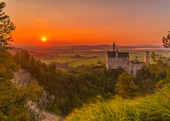 Castle Neuschwanstein during sunset (markoberna) Tags: nisifilter alpha7rii sony landscape castle burg schloss schwangau deutschland germany sonnenuntergang sunset neuschwanstein bavaria bayern zeiss batis 18mm sonyalphadslr