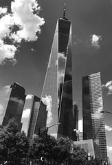 (rafalweb (moved)) Tags: skyscraper manhattan sky worldtradecenter wtc freedomtower newyorkcity nyc monochrome blackandwhite white black