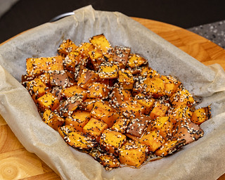 Sweet potato out of the oven