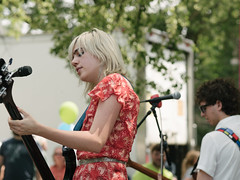 Sunflower Bean (verlacosa) Tags: livemusic sunflowerbean olympus 75mm color portrait event libertyplaza performer concert annarbor music penf soniclunch vscofilm michigan