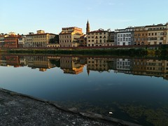 Florence reflection (Giuliettes) Tags: firenze florence tuscany reflection water river colors colours beautiful sunset toscana nofilter italy italian italia