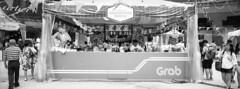 Grab Info Booth (JamCanSing) Tags: hasselblad xpan panoramic pano street blackandwhite bnw xtol
