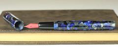 Black and Blue Custom Fountain Pen - Bock Red Nib (BenjaminCookDesigns) Tags: fountainpen custom bespoke engraved personalised classic vintage artdeco style gift birthday christmas fpgeeks fpn giftforhim giftforher füllfederhalter