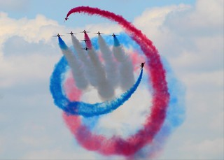 The Red Arrows @ Royal International Air Tattoo 2018 In  Gloucestershire England UK