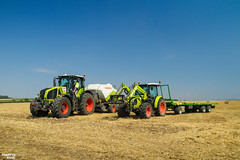 CLAAS Brothers (martin_king.photo) Tags: harvest harvest2018 ernte 2018harvestseason summerwork powerfull martin king photo machines strong agricultural greatday great czechrepublic welovefarming agriculturalmachinery farm workday working modernagriculture landwirtschaft martinkingphoto moisson machine machinery field huge big sky agriculture tschechische republik power dynastyphotography lukaskralphotocz day fans work place clouds blue yellow gold golden eos country lens rural camera outdoors outdoor claasteam team posing allclaaseverything bales squarebales summer claastorion torion535 claastorion535 new neu claasatos claasaxion pronar