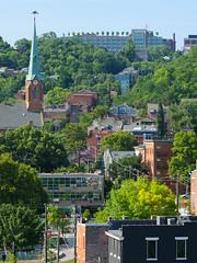 Prospect Hill (Travis Estell) Tags: cincinnati ohio overtherhine pendleton prospecthill churchsteeple density steeple texture urbandensity urbantexture unitedstates us