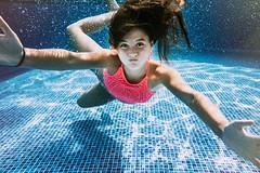 Close up. (lebramlett721) Tags: green nikon d750 24mm underwater portrait swimming girl teenager color