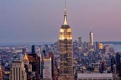 Empire Night (* Garron Nicholls *) Tags: rockefeller view worldtradecenter summer garron skyscrapers bluelight bluehour night urban empirestatebuilding newyork
