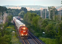 Four years before the end (Michael Berry Railfan) Tags: cp6249 cp6256 cp canadianpacific cp133 vaudreuilsub pointeclaire montreal quebec emd sd60 expressway