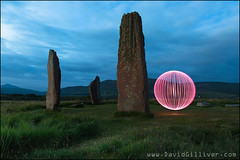 Nightfall (Pikebubbles) Tags: lightpainting lightjunkies davidgilliver davidgilliverphotography nightography nightphotography longexposure longexposures orb led leds spin machriemoor standingstones arran isleofarran scotland visitscotland
