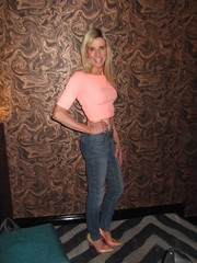 Manchester 16th June 2018 (paula_1558) Tags: stiletto heels blonde cropped jeans