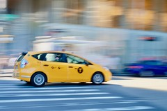 NYC (dangaken) Tags: nyc newyorkny newyorknewyork ny empirestate bigapple usa unitedstates us america summer city urban pan panning panshot motion blur motionblur traffic car nypd taxi cab yellowcab taxicab cabdriver fuji fujiflim xmount dgaken dangaken photobydangaken