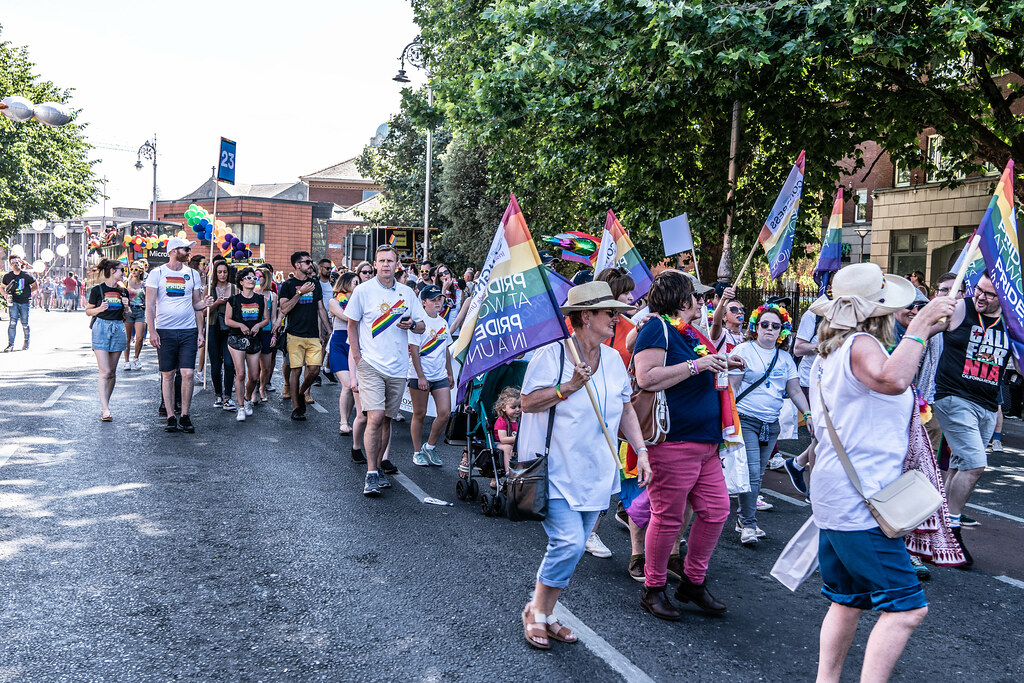 ABOUT SIXTY THOUSAND TOOK PART IN THE DUBLIN LGBTI+ PARADE TODAY[ SATURDAY 30 JUNE 2018] X-100109