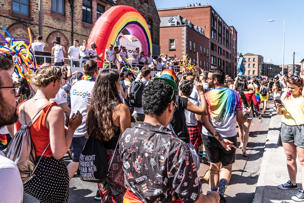 ABOUT SIXTY THOUSAND TOOK PART IN THE DUBLIN LGBTI+ PARADE TODAY[ SATURDAY 30 JUNE 2018] X-100246