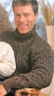 Husband in stylish brown turtleneck