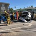 Firefighters Free Woman Trapped in South L.A. Crash