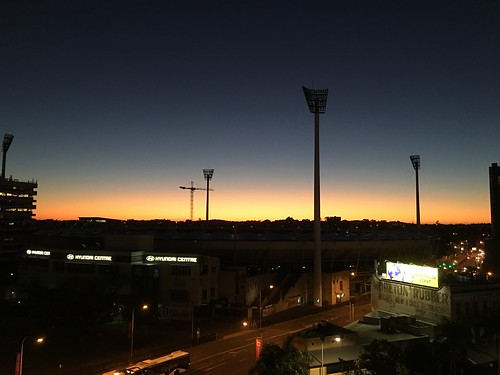 The Gabba Cricket Grounds at Sunrise