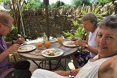 189 2018 lunch with Liz in the garden (Margaret Stranks) Tags: 189365 365days 2018 quenington gloucestershire uk garden lunch summer juice
