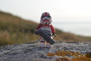Shocktrooper Captain on the Headlands.