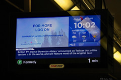 Downton Abbey news! (Can Pac Swire) Tags: ttc toronto ontario canada canadian transitcommission monitor display information 2018aimg1048 downtonabbey news announced announcement movie film version adaptation