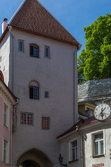 Medieval Towers (AudioClassic) Tags: city medieval house europe estonia old architecture tallinn town historic heritage wall traditional ancient history exterior building capital baltic european tower estonian travel tourism landmark facade urban cityscape street historical summer culture view famous nordic day roof outdoor national vintage sightseeing tiles window residential windows sky